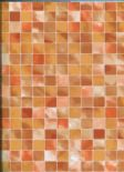 Elements Wallpaper Mosaic 59-Terra  By Wemyss Covers Wallcoverings
